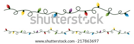 Seamless string of colored lights. - stock vector