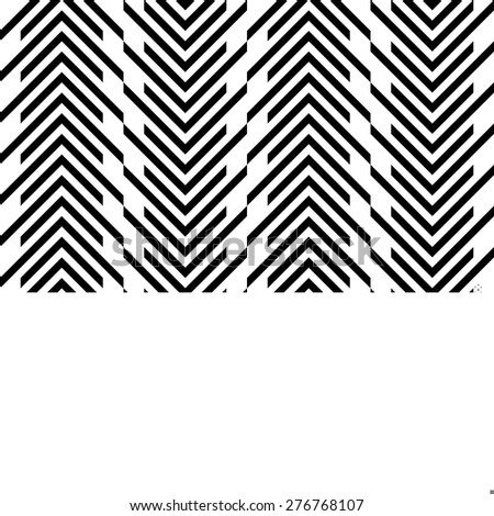 Seamless Stripe Pattern. Vector Black and White Texture - stock vector