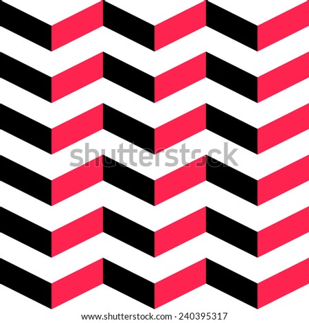 Seamless Stripe Pattern. Vector Red And Black Background. - stock vector