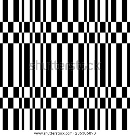 Seamless Stripes Pattern. Vector Monochrome Texture - stock vector