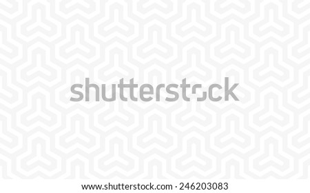 Seamless subtle gray isometric hexagonal symmetry medieval pattern vector - stock vector