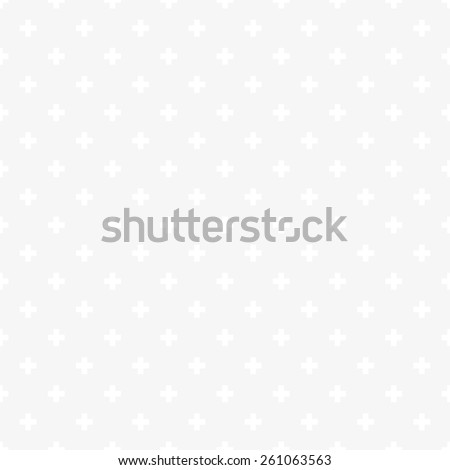 Seamless subtle gray op art plus cross symbol pattern vector - stock vector