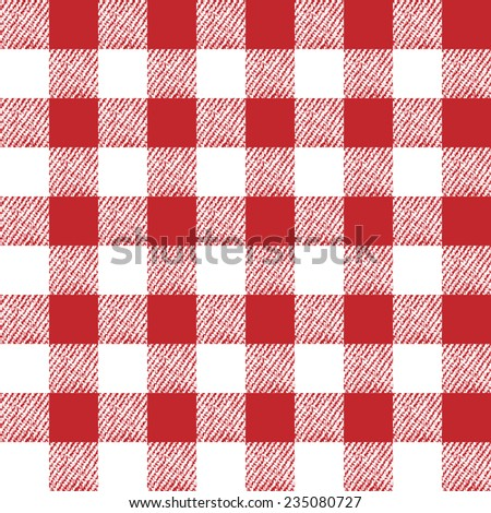 seamless table cloth texture. Eps8. No gradients. No transparencies - stock vector