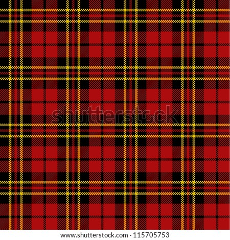 Seamless tartan pattern - stock vector