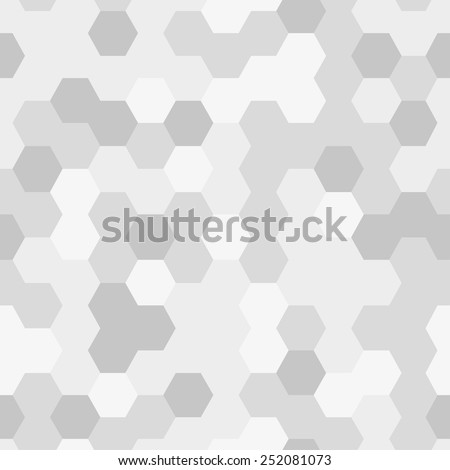 Seamless texture gray hex grid. Vector Illustration. - stock vector