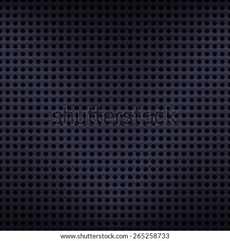 Seamless texture metal surface dotted octagon perforated background, 10eps. - stock vector