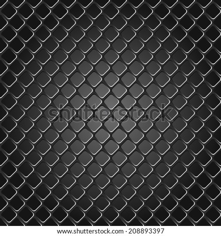 Seamless texture of metal grille. - stock vector