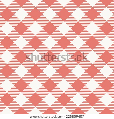 Seamless texture of red plaid. Vector illustration - stock vector