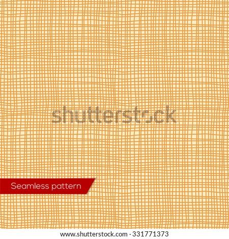 Seamless texture of yellow canvas vector eps 10 - stock vector