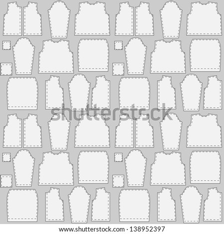 Seamless texture patterns clothing - stock vector