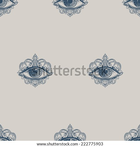 seamless texture with eyes - stock vector