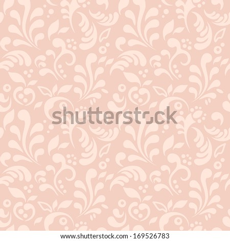 Seamless texture with floral ornaments / Seamless pattern - stock vector