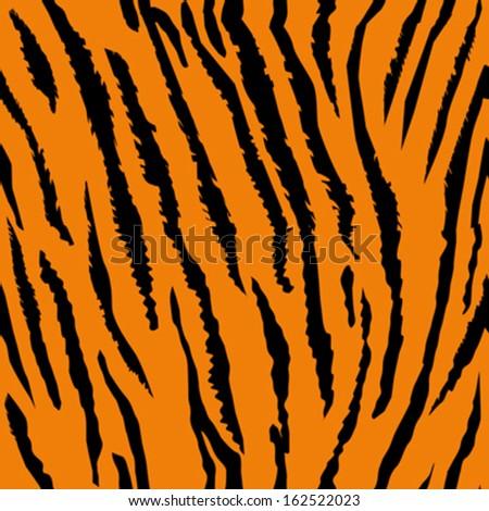 Seamless tiger fur pattern  - stock vector