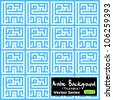 Seamless tile-able vector pattern made from 'Eid Fitri'  arabic kufic murabba' square calligraphy style. Eid Fitri is a festival that mark the end of Ramadhan fasting month. - stock vector