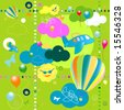 seamless toys pattern, funny background for kids - stock vector