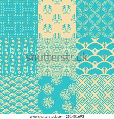 seamless traditional japanese pattern - stock vector