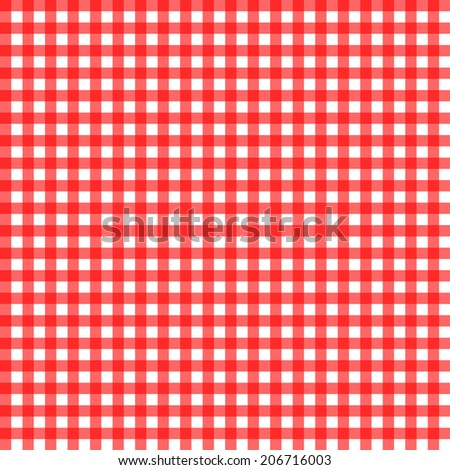seamless traditional red and white table cloth - vector - stock vector