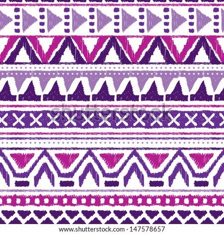 seamless trend purple violet aztec vintage folklore