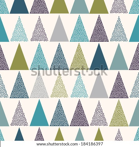 seamless triangle dots pattern - stock vector