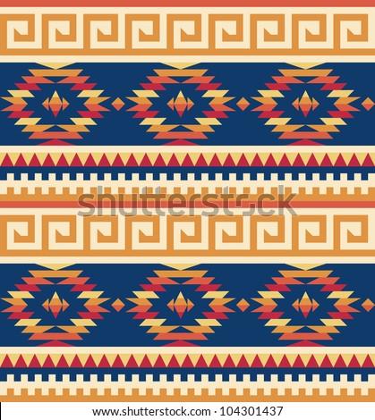 Seamless tribal pattern - stock vector