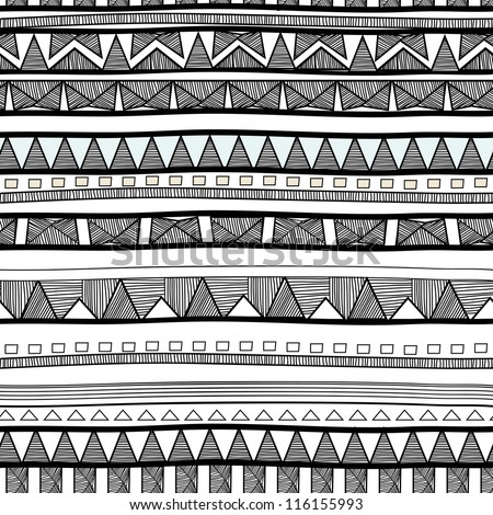 Seamless tribal pattern - stock vector