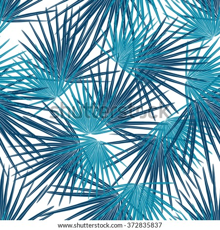 Seamless tropical leaf pattern. Vector illustration. - stock vector