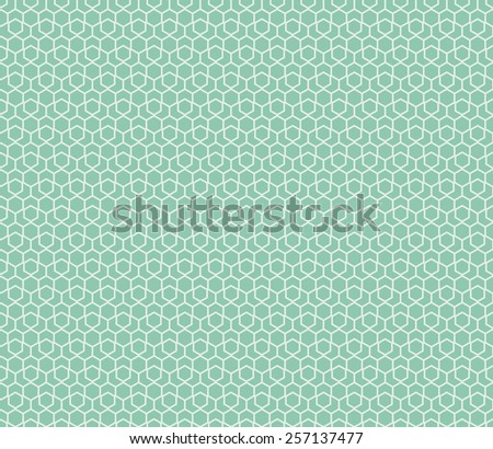 Seamless turquoise hexagonal pattern vector - stock vector