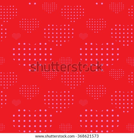 Seamless Valentine's Day pattern with hearts - stock vector