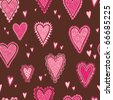 Seamless Valentine's  heart pattern - stock vector