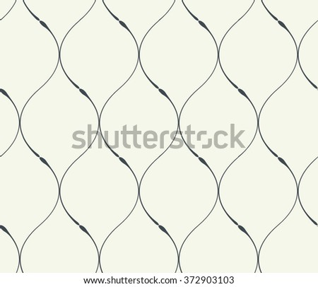 Seamless vector abstract smooth lines pattern background - stock vector