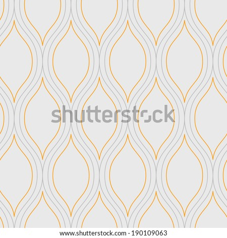 Seamless vector abstract wave pattern background - stock vector