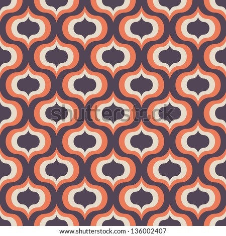 Seamless vector art geometric pattern background - stock vector