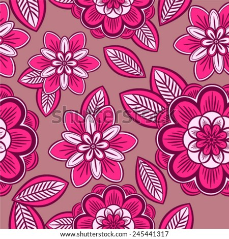 Seamless vector background. Beautiful flower pattern.  - stock vector