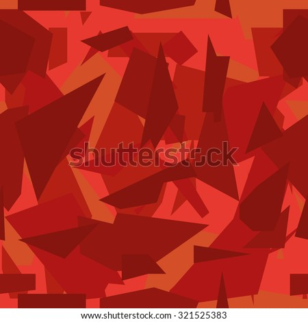 Seamless vector camouflage series - Red - stock vector