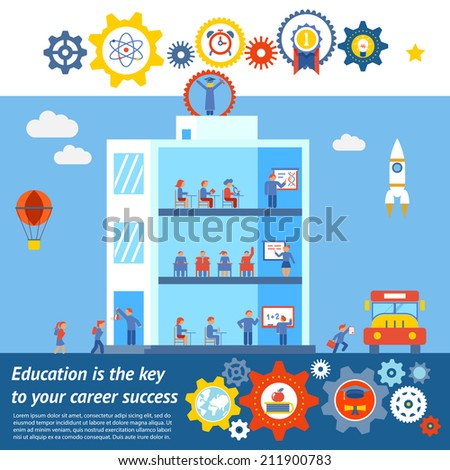 Seamless Vector Education to Success Design. Mostly used in Notebooks and Schools - stock vector