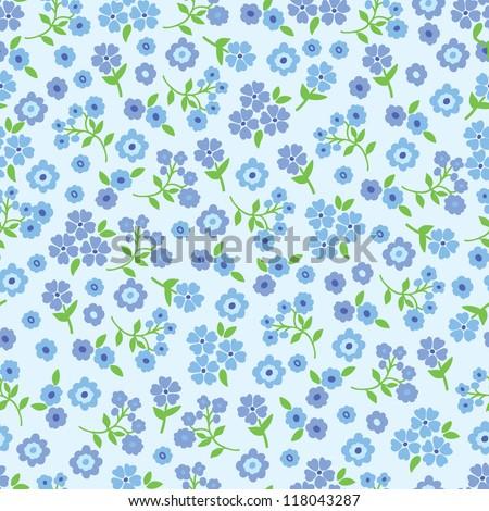 Seamless Vector flower pattern. - stock vector