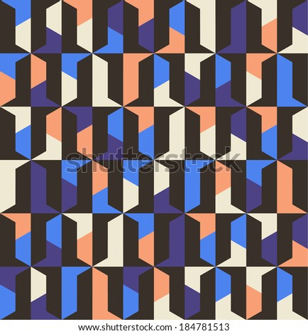 Seamless vector geometric pattern background - stock vector