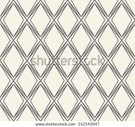 Seamless vector geometric rhombus pattern background - stock vector