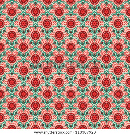 Seamless vector illustration with vintage models for texture and fabrics - stock vector