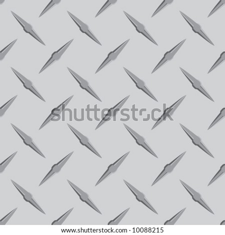 Seamless vector in any direction. Diamond steel plate. - stock vector