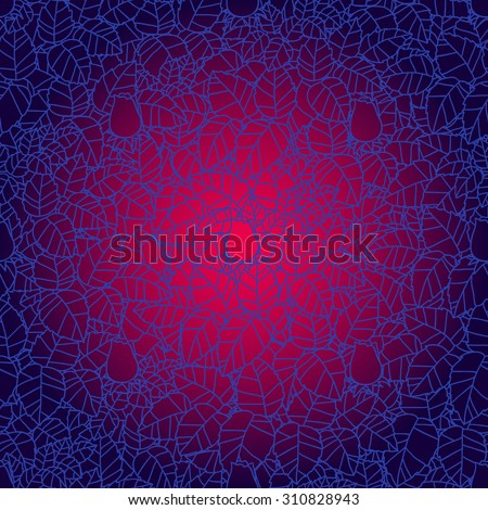 Seamless vector lace pattern with abstract leaves and rose. Endless background. Ethnic seamless texture. Vector backdrop. blue, red  colors. Use for wallpaper,pattern fills, web page background - stock vector
