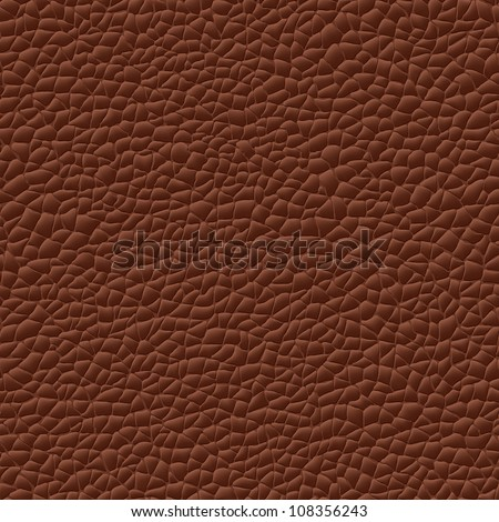 seamless vector leather texture brown background pattern - stock vector
