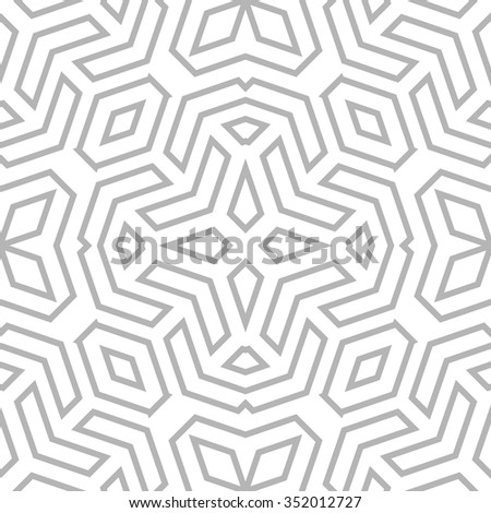 Seamless vector light ornament. Modern stylish geometric pattern with repeating elements - stock vector