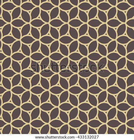 Seamless vector ornament. Modern geometric pattern with repeating elements. Brown and golden pattern - stock vector