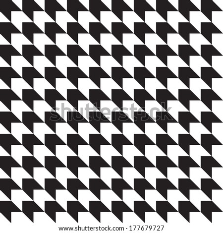 Seamless vector pattern. Abstract black and white background. - stock vector