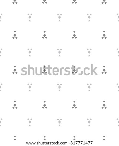 Seamless vector pattern. Abstract geometric background. Rhythmic structure with zigzag. Monochrome stylish texture with chevron elements. - stock vector