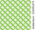 Seamless vector pattern background of overlapping green squares over white - stock vector