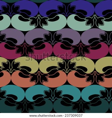 Seamless vector pattern eggplant  - stock vector
