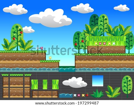 seamless vector pattern for games design - stock vector