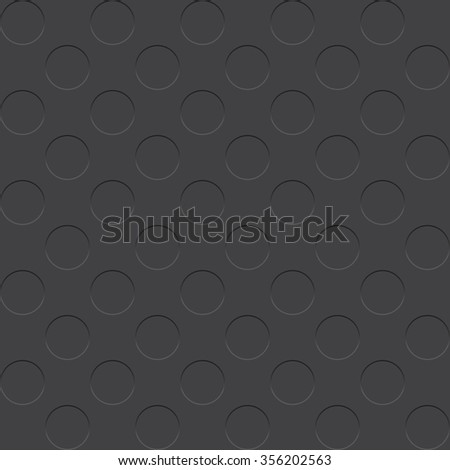 Seamless vector pattern of raised dots on dark grey background. Eps10. - stock vector